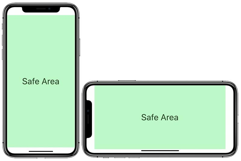 iphone x safe area