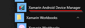Xamarin Android Device Manager